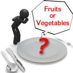 果物と野菜の違い!栄養の摂取量による比較と目安は?!