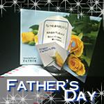 父の日のカードを手作り!無料ダウンロードのポップアップカード素材