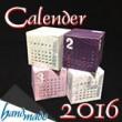 2016年卓上カレンダー!無料テンプレートで簡単手作り♪