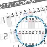 【2019年版 年間カレンダー】手作りA4サイズを無料ダウンロード!