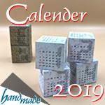 2019年手作り卓上カレンダー(無料)!並べて楽しいキューブ型♪