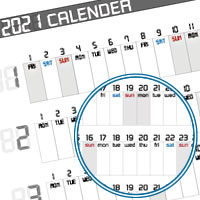A4サイズの年間カレンダー【2021年版】!無料DLで簡単手作り♪