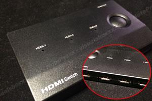 TVの端子増設!「リモコン付 HDMI切替器 1」
