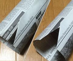 プレゼント用「円柱のラッピング方法(その1) 手順 3」