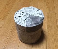 プレゼント用「円柱のラッピング方法(その1) 手順 6」