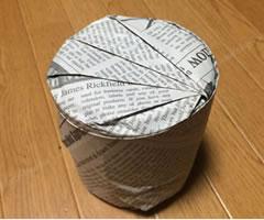プレゼント用「円柱のラッピング方法(その2) 手順 5」