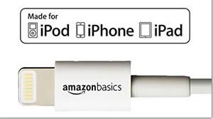 iPhoneのおすすめライトニングケーブル「Amazonベーシック ハイクオリティーライトニングUSB充電ケーブル 小型ヘッド設計」