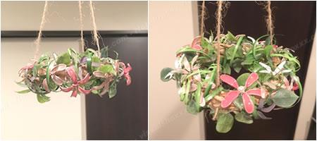 マニキュアフラワーで手作り♪クリスマス用「フライングリース(イメージ2)」
