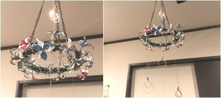 マニキュアフラワーで手作り♪クリスマス用「フライングリース(イメージ3)」