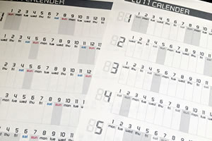 【2017年】A4サイズの年間カレンダー「無料ダウンロードファイルの印刷方法でイメージチェンジ」!