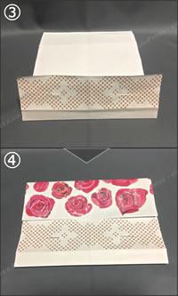 紙袋でできる「紙財布の簡単な作り方」手順 2