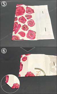 紙袋でできる「紙財布の簡単な作り方」手順 3