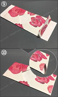 紙袋でできる「紙財布の簡単な作り方」手順 5