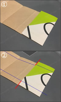紙袋で紙財布を手作り!「小銭入れの作り方」手順 1