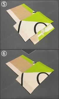 紙袋で紙財布を手作り!「小銭入れの作り方」手順 3