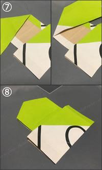 紙袋で紙財布を手作り!「小銭入れの作り方」手順 4