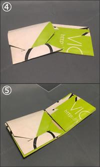 紙袋で手作り「小銭入れ&カード入れ付 紙財布」完成!