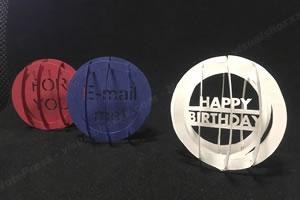 手作りのメッセージカード♪立体のおしゃれな「誕生日カード(Sサイズ)」