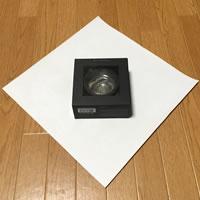 プレゼント用「箱ラッピングの方法(正方形)」手順 1