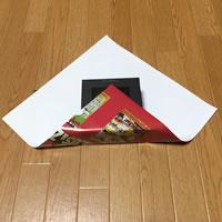 プレゼント用「箱ラッピングの方法(正方形)」手順 2
