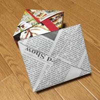 プレゼント用「箱ラッピングの方法(正方形)」参考ラッピング例