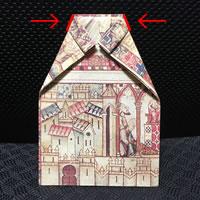 プレゼント用「袋ラッピングの方法(シャツ形)」手順 4