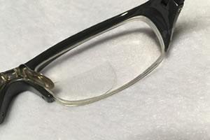 貼るレンズで近視用メガネを老眼鏡に!「サイズ調整 3」
