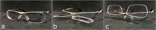 老眼・近視両用メガネ!dunの「オリジナル跳ね上げ機構」