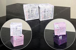 【2019年】並べて楽しいキューブ型「手作り卓上カレンダー♪(無料)」イメージ1