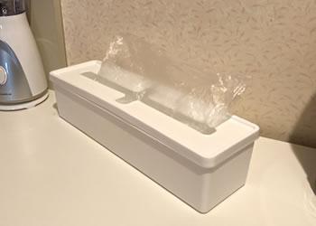 キッチンのポリ袋収納ボックスのアイデア「収納例 1」