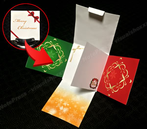 簡単に手作りできるクリスマスカード