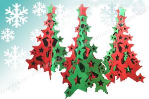紙で簡単に作れるクリスマスツリー「完成イメージ」