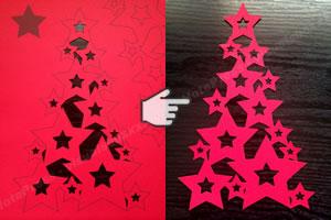 手作りクリスマスツリーの作り方 手順2
