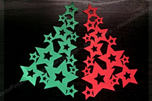手作りクリスマスツリーの作り方 手順3