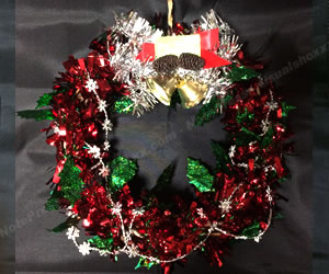 簡単な手作りクリスマスリースの作り方 手順3