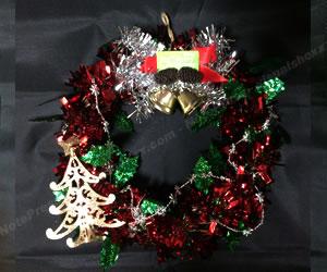 簡単な手作りクリスマスリースの作り方 手順4