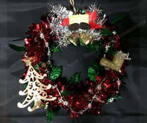 簡単な手作りクリスマスリースの作り方 手順5