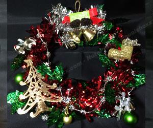 簡単な手作りクリスマスリースの作り方 手順6