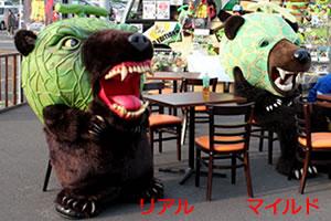 北海道のゆるキャラ メロン熊!「リアル(2号)とマイルド(1号)」