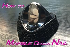 ネイルのやり方♪マーブルデザインが簡単にできる方法とコツ!