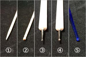 道具によるドットサイズの違い「道具の種類」