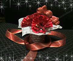 母の日のプレゼント♪手作りカーネーション アレンジ例 1」