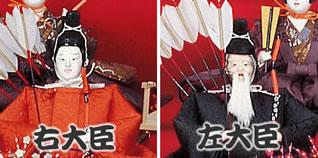 雛人形 七段飾りの飾り方「4段目:随臣」