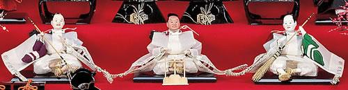 雛人形 七段飾りの飾り方「5段目:仕丁」