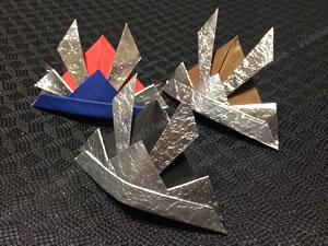 「簡単でかっこいい兜の折り紙」バリエーション♪