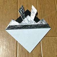 折り紙「かぶとの折り方 9」