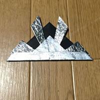 折り紙「かぶとの折り方 10」