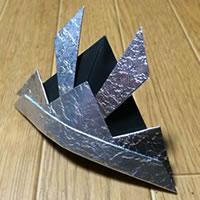 折り紙「かぶとの折り方 完成」