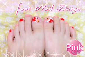 ピンクのフットネイル♪足と手でマッチしたデザインを紹介!